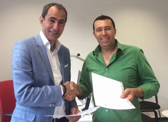 Yosri Fouda y Naser Schruf, jefe del servicio en árabe de DW