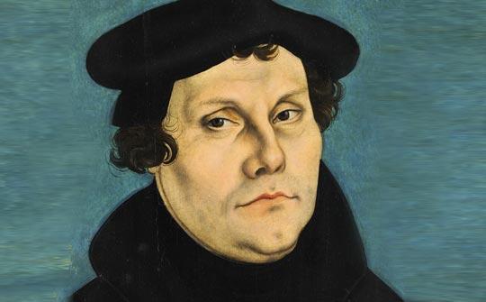 Martin Lutero (1528) por Lucas Cranach