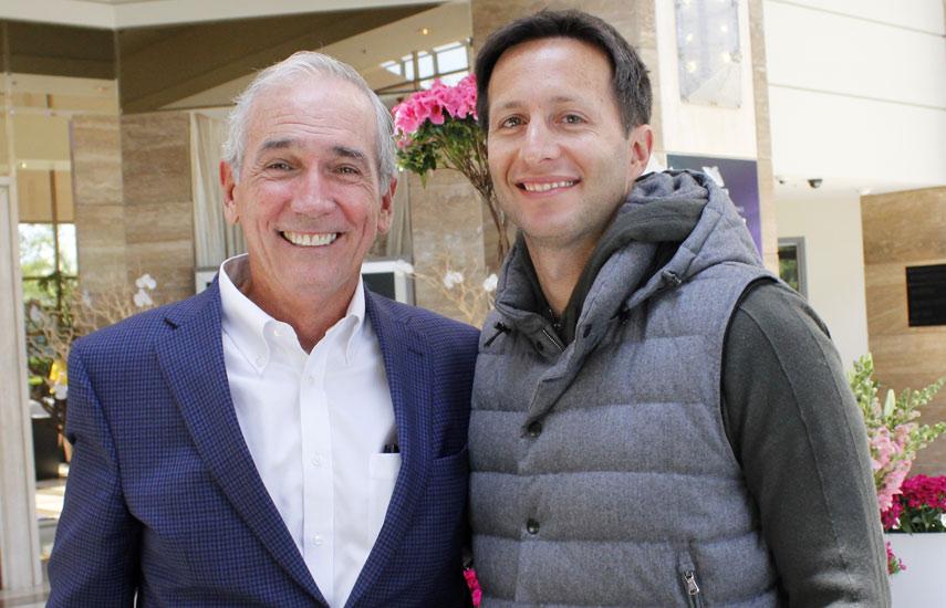 Jim McNamara de Hemisphere Media Group y Tomás Yankelevich de Turner Latin America