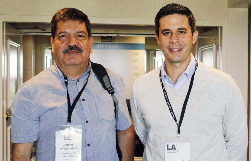 Alberto Wichtendahl y Ernesto Monasterio Paz de Unitel Canal 9 de Bolivia