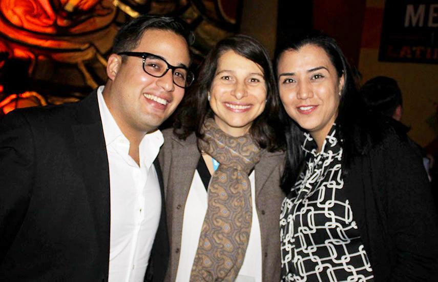 Javier Hernández de SES, María Eugenia Ugueto, Directora Comercial de Agrotendencia TV y Patricia Coronel del Canal Destino TV de Costa Rica.