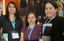 Fabiola Padilla, Haydee Rodriguez y Reyna García del equipo de RTVE.