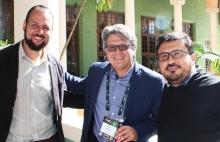 Rodrigo Godoi de AWS, Diego Martinez de Inview y Luis Ahumada de Mediastream.
