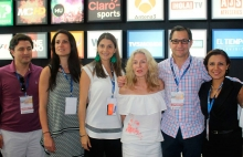 Carlos Boshell, Fernanda Merodio, Diana Visbal, Matilde Boshell de MBA Networks, Jorge Tatto Amador de MVS y Monica Espitia de MBA Networks