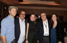 Tomás Yankelevich, de Telefe; Pierluigi Gazzolo, de Viacom; Karen Barroeta, de Telemundo; Enrique Yamuni, de Megacable México; y Rita Herring, de Viacom.