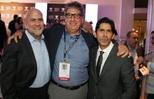 Angel Zambrano de Turner, Ralph Haiek del INCAA de Argentina y Marcos Santana, Presidente de Telemundo Internacional.